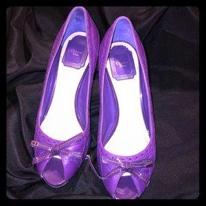 Christian Dior purple pumps